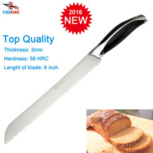 2015 Brand new top grade stainless steel sharp knife 8'' inch Sawtooth bread knife kitchen knife