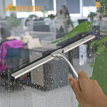 ABEDOE Home Window Glass Cleaner Tool Stainless Steel Cleaning Squeegee Mirror Screen Brush For Kitchen Bathroom Cleaning Tools(China)