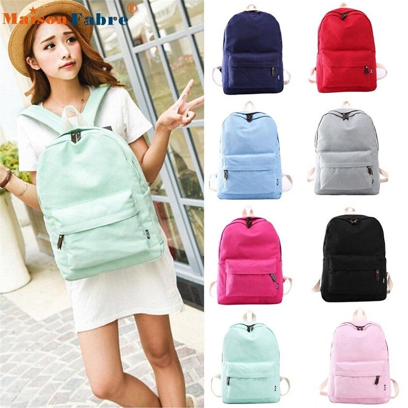 High quality Women Canvas School Bag Girl Backpack Travel Rucksack Shoulder Bag<br><br>Aliexpress