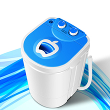 9 Minutes Arrival Portable Mini Washing Machine Semi Automatic Single Barrel Clothes Washing Tool for Home Baby UV Antibacterial(China)