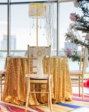 132in Round Sparkly gold Sequin Table Cloth Sequin Table Cloth,Cake Sequin Tablecloths, Sequin Linens for Wedding/Birthday Party