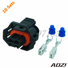 Ten Sets Automotive Wiring Harness Plastic Connector For Car Part 3.5mm Series 2 Pins Terminals 1 928 403 874 1928403874(China)