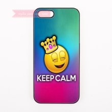 tough cover case for iphone 4 4s 5 5s 5c se 6 6S 7 Plus iPod Touch cases funny emoji Smile face Drool Nervous Playful Blush Face(China)