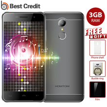"Original Homtom HT37 Pro 4G Mobile Phone MTK 6737 Double Speaker 5.0""HD 13MP Android 7.0 Fingerprint 3GB+32GB 3000mAh Smartphone"