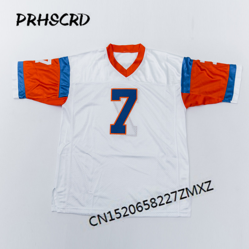 Retro star #7 John Elway Embroidered Throwback Football Jersey(China)