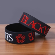 Embossed Black Veil Brides silicone bands rubber bracelets Rock bracelet for personal style Wide silicone bangle china(China)