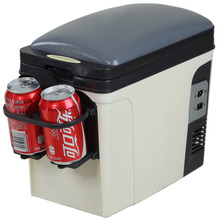 Smad 6L 12V Electric Car Cooler Warmer Truck RV Portable Mini Refrigerator 110V High Quality Office Food Heater Car Fridge