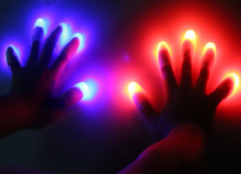 4PCS Funny Novelty LED Light Flashing Fingers Magic Trick Props Kids Amazing Fantastic Glow Toys Children Luminous Gifts 019