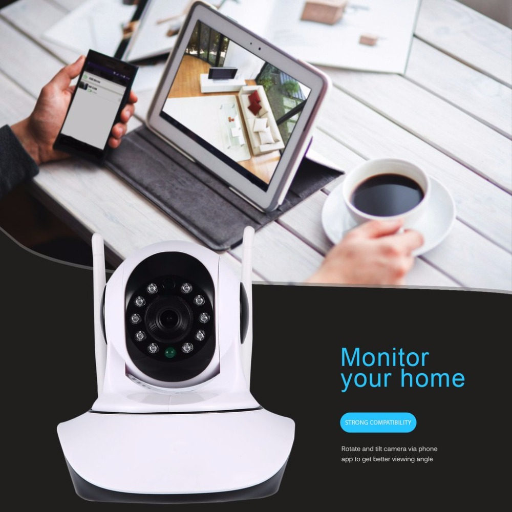 Two Million 1080P HD Wireless Network Panoramic Wifi Camera Home Motion Detectio IP Camera With Smartphone Alerts and App Set-up<br>