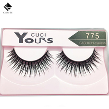 10 pairs  Soft Women Lady Makeup Thick False Eyelashes Eye Lashes Long Black Natural Handmade Makeup Beauty Tools A017(China)