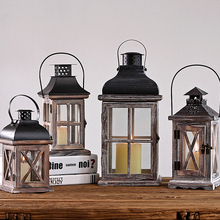 Children Musical Candle Cake Topper Cage Metal Lantern Candles Tripod Wedding Decoration Ferforje Antique Candlestick QQX131