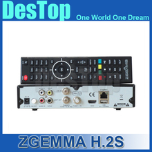 10 pcs/lot Dual core CPU Digital satellite tv receiver ZGEMMA H.2S Twin tuner DVB S2&S with iptv function no dish