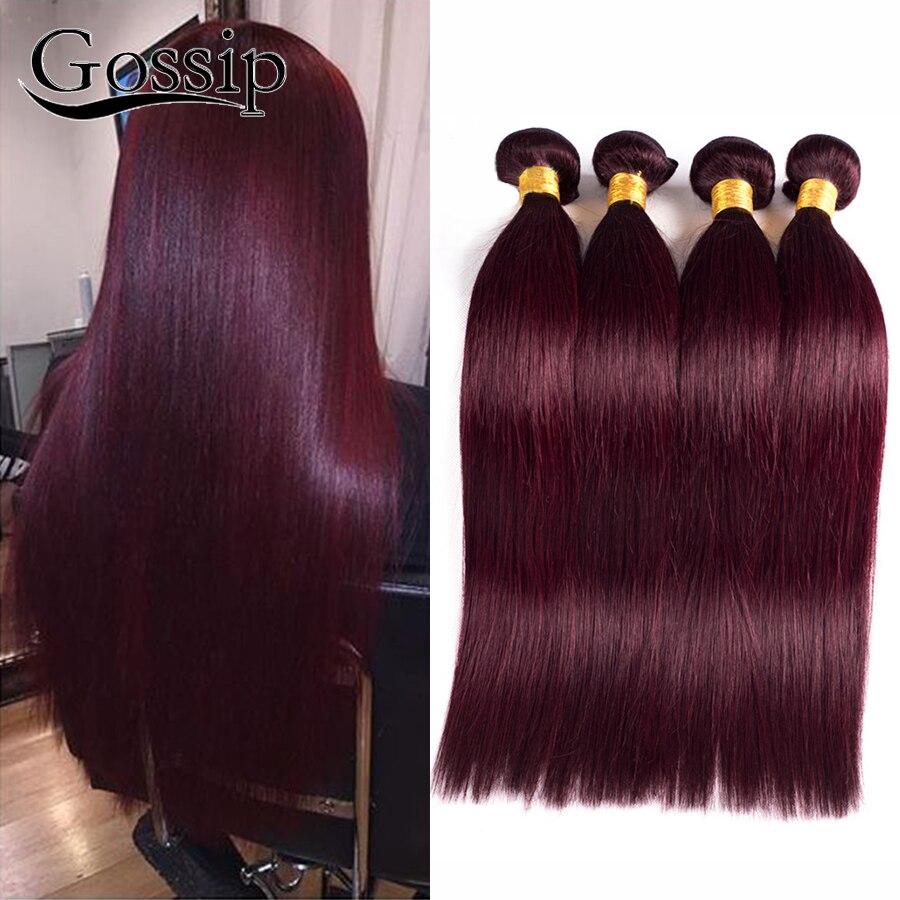 Brazilian Virgin Hair Straight 4 Bundles Burgundy Brazilian Hair Weave Bundles 99j# Brazilian Straight Hair Human Hair Bundles<br><br>Aliexpress