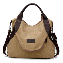 Veevan 2016 Korea Style Large Pocket Casual Women's Handbag Vintage Canvas Shoulder Bag Large Capacity Crossbody Bag  Travel Bag