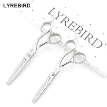 Professional Hair thinning Scissors 5.5 Inch or 6 INCH Silvery Thinning Shears Antler Teeth F123 F124 LYREBIRD HIGH-CLASS NEW(China)