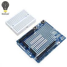 Free Shipping UNO Proto Shield prototype expansion board with SYB-170 mini bread board based For ARDUINO UNO ProtoShield(China)