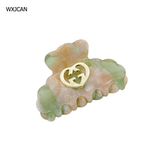 WXJCAN 5 Color high quality cellulose acetate board  form hair claws Hairclip hair jewelry hairpins crab tiara H9008