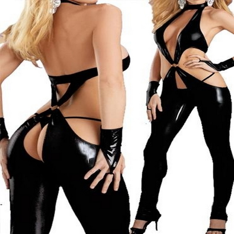Women's Sexy Lingerie Latex Leather Cosplay Fancy Dress Costume Glove Sex Toys Couple Adult Games
