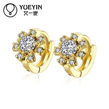 Women's jewelry yellow gold color earrings gold color earrings fashion jewelry gift nausnice Jewelry supplier Romantic