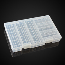 Transparent Battery Holder Case Hard Plastic Storage Box Rack for AAA AA C&D 9V(China)