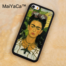 MaiYaCa frida kahlo Printed Soft Rubber Mobile Phone Cases For iPhone 5 5S Back Cover For iphone SE Shell Cover(China)