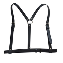 Women Sexy Harajuku Garters Faux Leather Body Bondage Cage Sculpting Harness Waist Belt Straps Suspenders Belt for Adult(China)