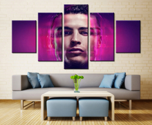 5 Pcs/Set No Framed HD Printed Cristiano Ronaldo Football Picture Art Print Poster Canvas Prints Wall Painting