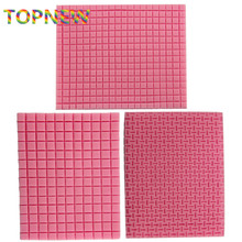 New Small & Big Grid Texture Woven Bag Cookie Mat Fondant Mold Cupcake Biscuits Mould Silicone Sugar Mold Cake Decoration Tools