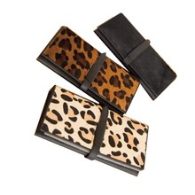 2016 bags women genuine leather leopard print horsehair cowhide clutches and purses classic wallet women's long design wallet