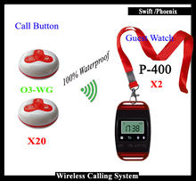 Wireless Queue System pager system for Restaurant With Wireless Restaurant bell & smart watch Pager(China)