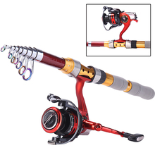 Fishing Rod And Spinning Reel Strong Telescopic Fishing Rod Superhard Power Hand Carbon Spinning Sea Rod Fishing Tackle(China)