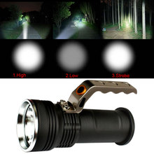 Mini Rechargeable Flashlight 3000 Lumens Portable CREE LED Torch Handheld Light Lamp For 2x18650 battery 3 Modes Camping zaklamp(China)