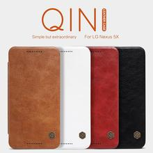 For LG Nexus 5X Case Original Nillkin Qin Series Leather Case Wallet Flip Cover Phone Bag Case For Google Nexus 5x Nexus5X(China)