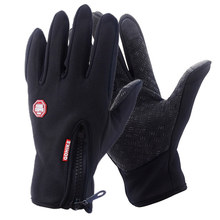 Full Finger Phone Glove Winter Ski Gloves Fleece Thermal Warm Bike Sport Gloves Motorcycle Bicycle Equipment Ski Cycling Gloves(China)
