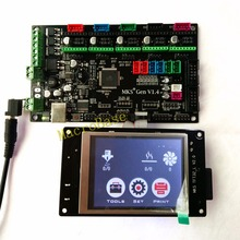 MKS GEN controller with MKS TFT32 colorful touch screen 3d printer DIY starter kit mega2560 mainboard stm32 lcd Kossel kits(China)