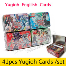 41pcs /Set With  Box Yugioh Game Paper Cards Toys Girl Boy Yu Gi Oh Game Collection Cards Christmas Gift Brinquedo Toy