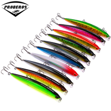 "10pc Bassbait Exported to Japan 10 color Fishing Bait Minnow Lures 13.5g-0.48oz/12.5cm-4.92"" Fishing Lure 6# Hook Fishing Tackle"