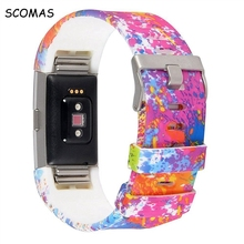 SCOMAS Colorful strap for fitbit charge 2 Wristband Silicone Strap Smart Band Accessories for fitbit charge 2 fitness tracker