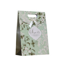 Free Shipping 12 X Green Vine Gift bag Wedding Birthday Party Paper Portable Gift Bag Party Favor Supply