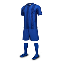 Free Shipping 2017 Adults Men's Blue Soccer Jerseys Customized Number Name Football Team Logo Soccer Uniforms Shirts Suit Jersey