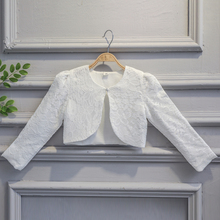 Kids Girls Lace Cardigan Baby Long Sleeves Bolero Jackets for Girl Wedding Party Cape Coat Children Dress Tops Clothing(China)