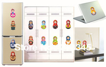 [Fundecor] lovely national wind doll sticker DIY fashion decoration notebook home waterproof wall stickers 6214