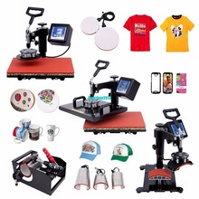 (Ship from US) 8 In 1 Swing Away Heat Press Machine Transfer Sublimation T-Shirt Cup Hat Mug