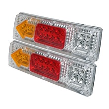 2pcs 19LED Rear Light 12V Car Truck Rear Tail Light Warning Lights Rear Lamps Waterproof for Trailers Trucks Utes Boat Caravans(China)