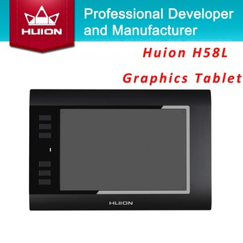 "Promotion Huion Digital Pen Tablets H58L 8""x5"" 2048 Levels Professional Drawing Tablets High Quality Best Price Black And  White"