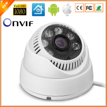 Full HD 1080P Indoor Dome IP Camera HI3518E 15fps Surveillance Camera IP ONVIF Motion Detection Email Alert Mobile Monitoring