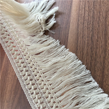 Beige Cotton Venise Lace Fringe Trim fabric with Tassel 10 yards Sewing for Garment edge DIY-Time(China)