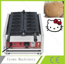 Commercial Use Non-stick Electric Belgium Hello kitty shape Waffle Iron Baker Maker Machine