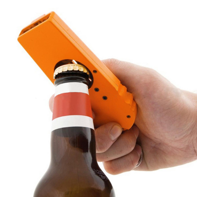 Portable Flying Cap Beer Drink Bottle Opener Launcher Top Shooter Wine Opening Cap Kitchen Cooking Tool Keyring Key Chain Mayitr