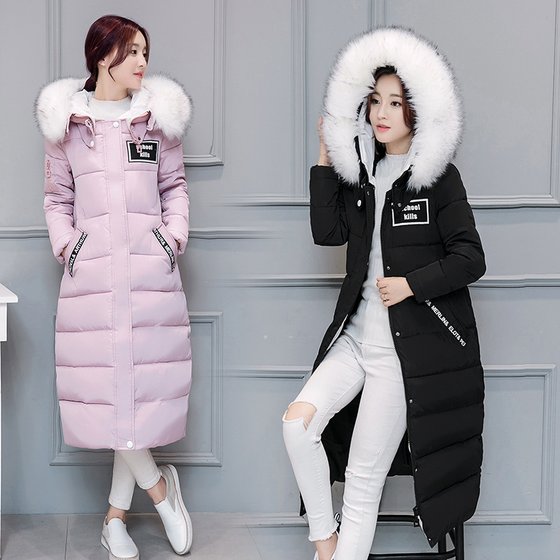 Womens Cotton-padded Jacket 2016 Newest Winter Thicken Long Slim Down Parka High Quality Plus Size Hooded Female Coat WomenÎäåæäà è àêñåññóàðû<br><br>